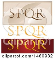 Clipart Of SPQR Designs Royalty Free Vector Illustration by Domenico Condello