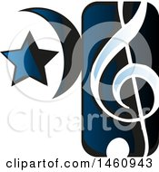 Clipart Of A Music Note Icon Royalty Free Vector Illustration by Domenico Condello