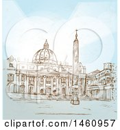 Sketched Basilica Vatican City