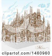 Sketched Milan Cathedral