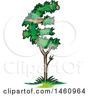 Clipart Of A Euro Tree Royalty Free Vector Illustration