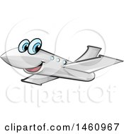 Clipart Of A Cartoon Happy Plane Royalty Free Vector Illustration