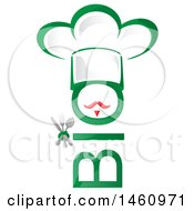 Clipart Of A Bio And Chef Hat Design Royalty Free Vector Illustration