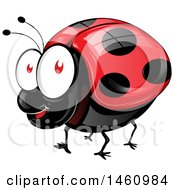Clipart Of A Happy Shiny Ladybug Royalty Free Vector Illustration