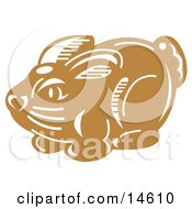 Milk Chocolate Easter Bunny Candy Clipart Illustration