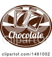 Clipart Of An Oval With Chocolate Squares And Text Royalty Free Vector Illustration by Vector Tradition SM