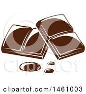 Clipart Of Chocolate Squares Royalty Free Vector Illustration by Vector Tradition SM