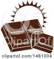 Clipart Of Chocolate Squares With A Sun And Text Royalty Free Vector Illustration by Vector Tradition SM