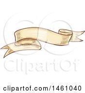 Vintage Styled Sketched Banner Ribbon