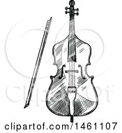 Sketched Cello Or Bass
