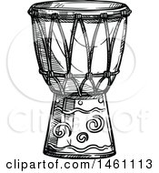 Sketched Conga Drum