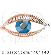 Clipart Of A Blue Eye Royalty Free Vector Illustration by Vector Tradition SM