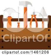 Clipart Of A Tool Box Royalty Free Vector Illustration by Vector Tradition SM