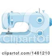 Clipart Of A Sewing Machine Royalty Free Vector Illustration by Vector Tradition SM