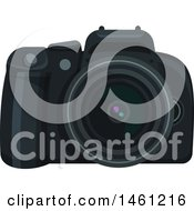 Clipart Of A Dslr Camera Royalty Free Vector Illustration by Vector Tradition SM