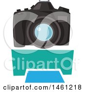 Clipart Of A Photography Design With A Blank Banner Royalty Free Vector Illustration by Vector Tradition SM