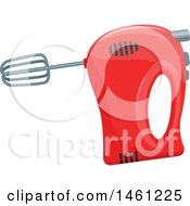 Clipart Of A Handheld Mixer Royalty Free Vector Illustration by Vector Tradition SM