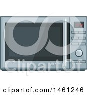 Clipart Of A Microwave Royalty Free Vector Illustration