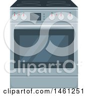 Clipart Of A Range Oven Royalty Free Vector Illustration by Vector Tradition SM