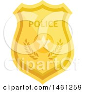 Clipart Of A Police Badge Royalty Free Vector Illustration by Vector Tradition SM