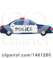 Clipart Of A Police Car Royalty Free Vector Illustration by Vector Tradition SM