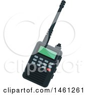 Clipart Of A Police Walkie Talkie Royalty Free Vector Illustration