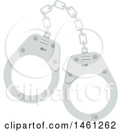 Clipart Of A Pair Of Handcuffs Royalty Free Vector Illustration by Vector Tradition SM