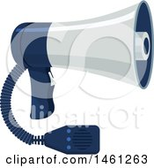 Clipart Of A Police Megaphone Royalty Free Vector Illustration by Vector Tradition SM