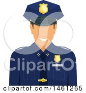 Clipart Of A Police Man Avatar Royalty Free Vector Illustration