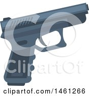 Clipart Of A Police Gun Royalty Free Vector Illustration by Vector Tradition SM