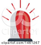 Clipart Of A Red Police Siren Royalty Free Vector Illustration by Vector Tradition SM