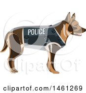Clipart Of A Police Dog Royalty Free Vector Illustration by Vector Tradition SM