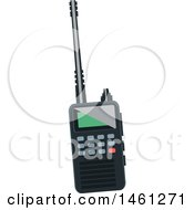 Clipart Of A Walkie Talkie Royalty Free Vector Illustration