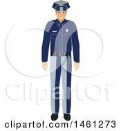 Clipart Of A Police Man Royalty Free Vector Illustration by Vector Tradition SM