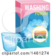 Clipart Of A Box Of Washing Powder Royalty Free Vector Illustration by Vector Tradition SM