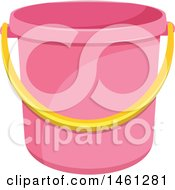Clipart Of A Pink Cleaning Bucket Royalty Free Vector Illustration by Vector Tradition SM
