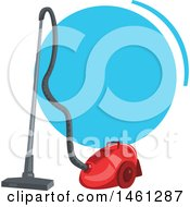 Clipart Of A Cleaning Design With Text Space And A Vacuum Royalty Free Vector Illustration