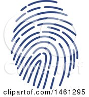 Clipart Of A Thumb Print Royalty Free Vector Illustration by Vector Tradition SM
