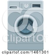 Clipart Of A Washing Machine Royalty Free Vector Illustration by Vector Tradition SM
