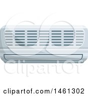 Clipart Of A Ductless Air Conditioner Royalty Free Vector Illustration