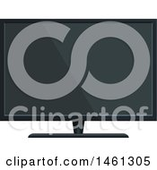Clipart Of A Tv Or Computer Monitor Royalty Free Vector Illustration by Vector Tradition SM