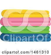 Clipart Of A Stack Of Folded Towels Royalty Free Vector Illustration