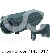 Clipart Of A Surveillance Camera Royalty Free Vector Illustration