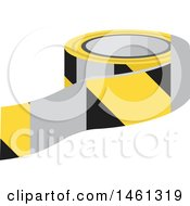 Clipart Of A Roll Of Caution Tape Royalty Free Vector Illustration
