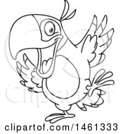 June 21st, 2017: Clipart Of A Black And White Parrot Dancing Royalty Free Vector Illustration by yayayoyo