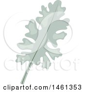 Clipart Of A Dusty Miller Eucalyptus Leaf Royalty Free Vector Illustration