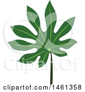 Clipart Of A Green Aralia Leaf Royalty Free Vector Illustration