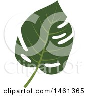 Clipart Of A Split Leaf Philodendron Leaf Royalty Free Vector Illustration