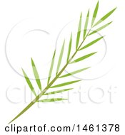 Clipart Of A Green Palm Branch Royalty Free Vector Illustration