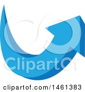 Clipart Of A Blue Arrow Design Royalty Free Vector Illustration